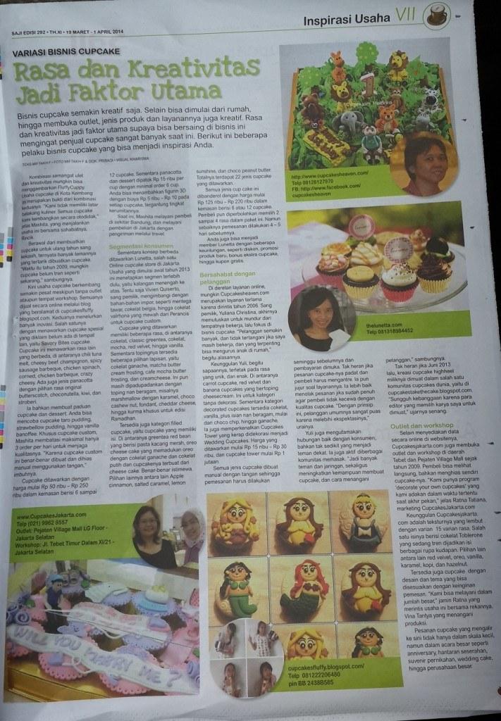 liputan cupcake tabloid saji 19 maret 2014