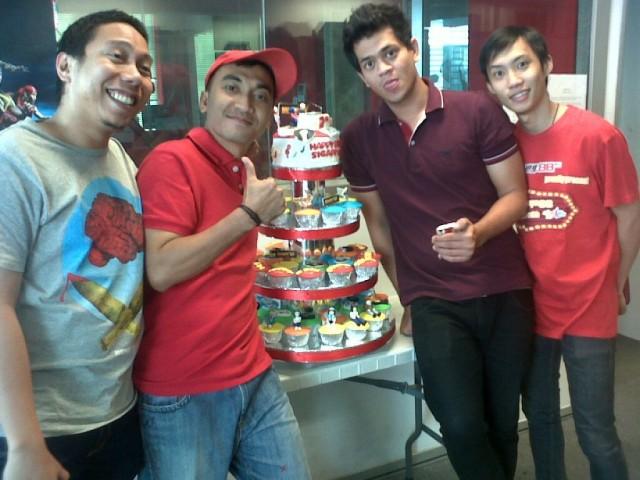 Cupcakes Birthday Tower buat Radio Mustang FM Acara Sigapp