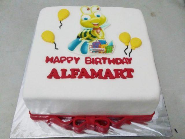 Cake ulang tahun Alfamart - 18 Oktober 2016
