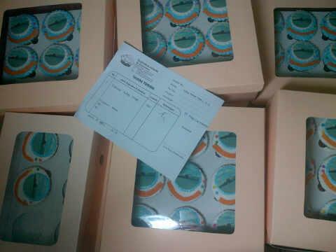 400 cupcakes pesanan PT Pelayaran Nasional Tanjung Riau Service utk PT Pinang Coal Indonesia