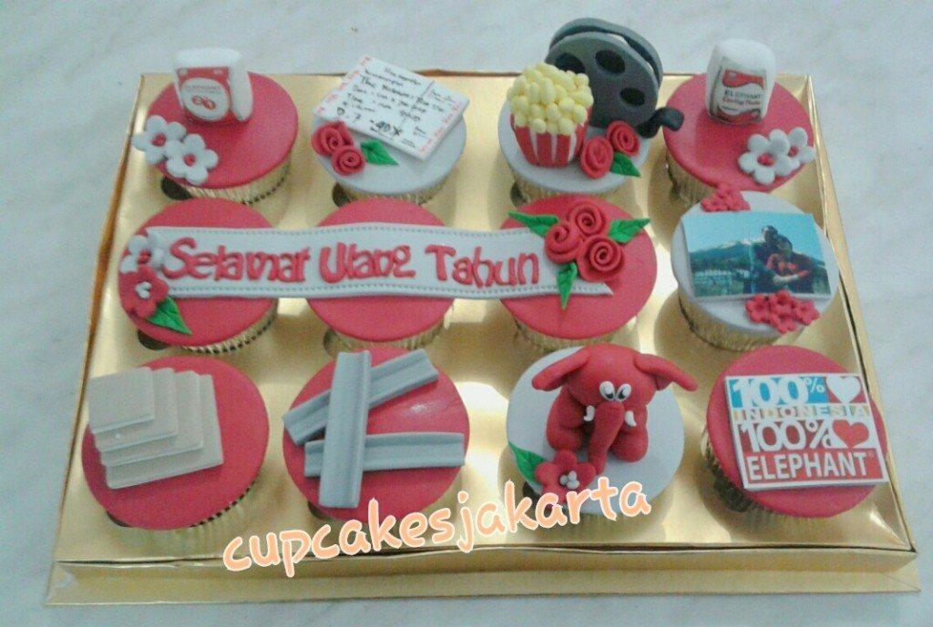 Birthday Cupcake Gift from Elephant Gypsum