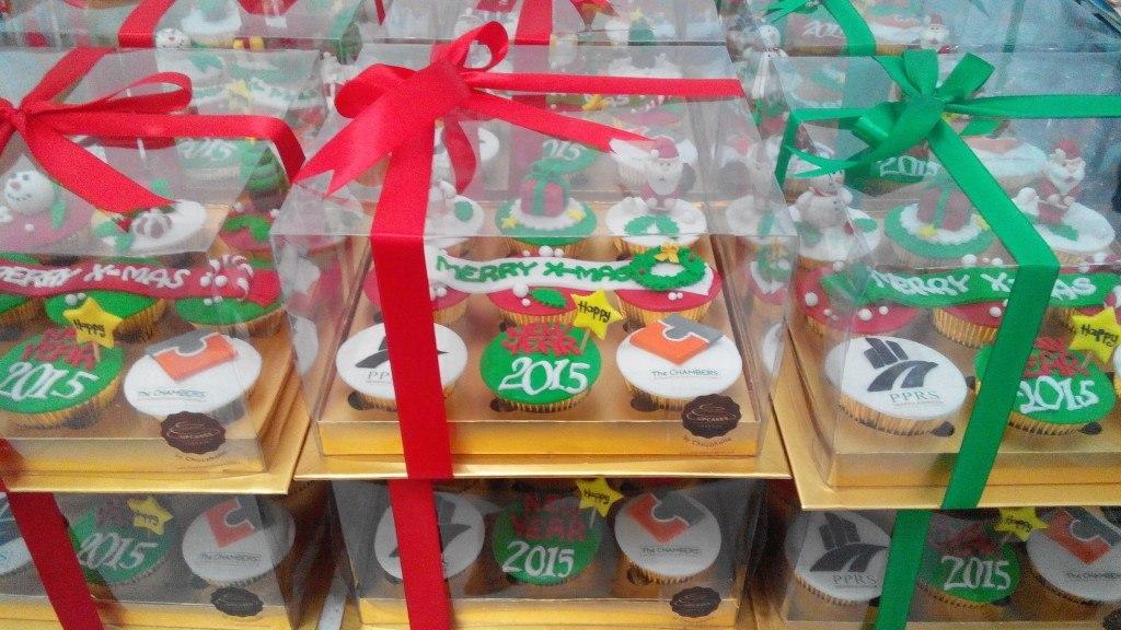 X'Mas and New Year's Cupcakes for tenants of Menara Kuningan - 23 Desember 2014