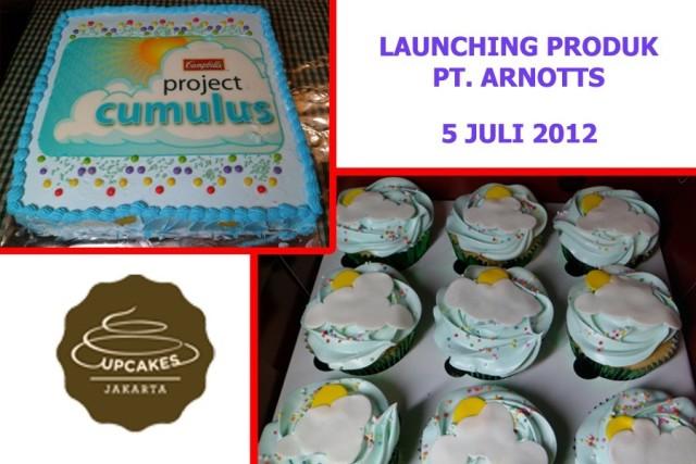 Pesanan cake dan cupcakes untuk launching produk PT Arnotts Indonesia