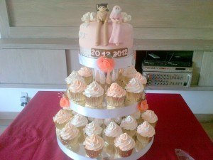 peach wedding des