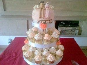 peach wedding des