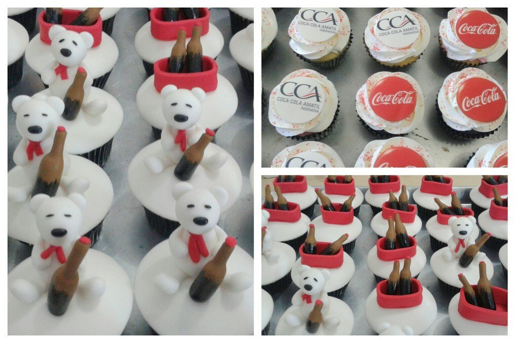 Cupcakes for Coca Cola Amatil Indonesia - 6 Desember 2014