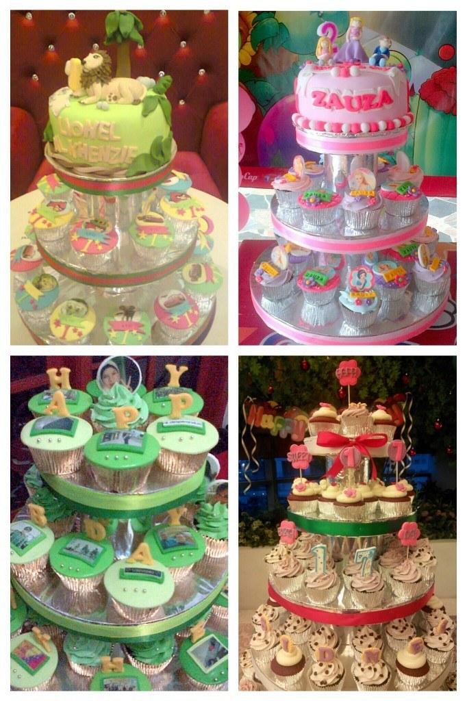 cupcakes birthday tower
