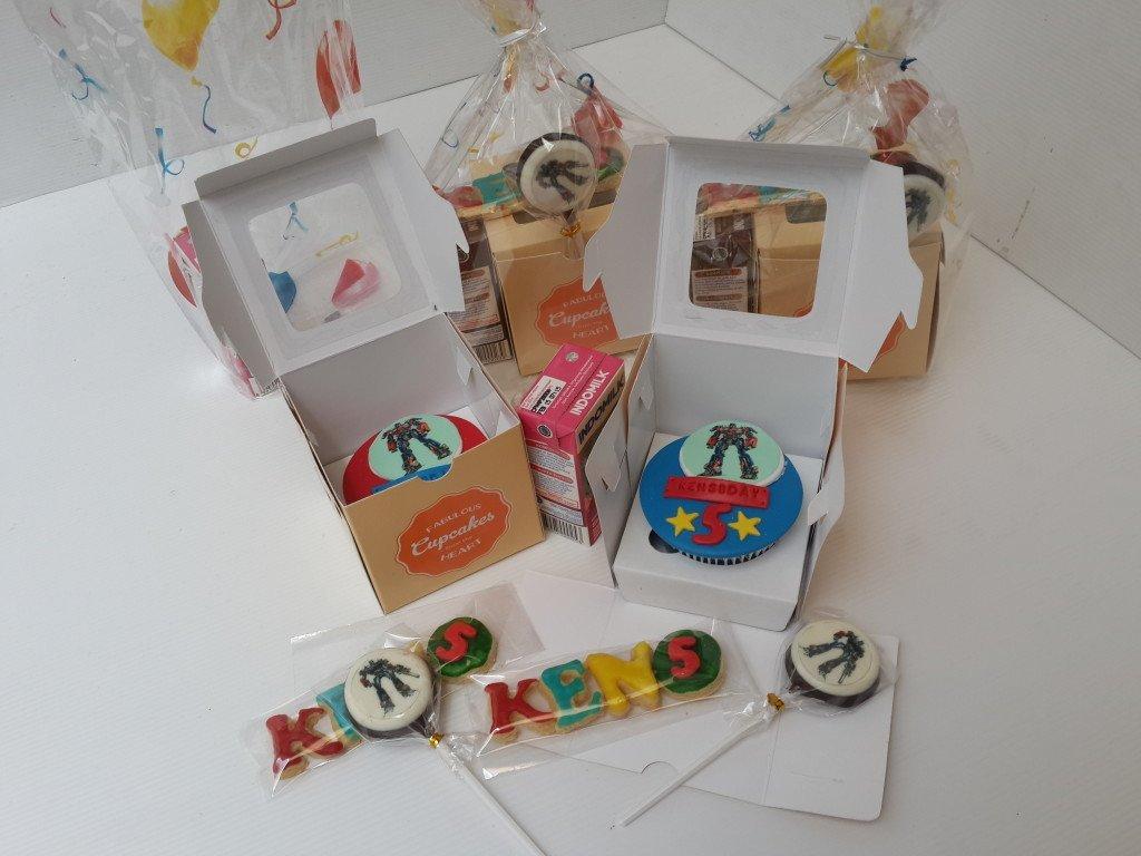 Goodie Bags Cupcakes Transformer