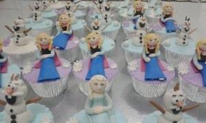 frozen elsa anna olaf 3D cupcakes