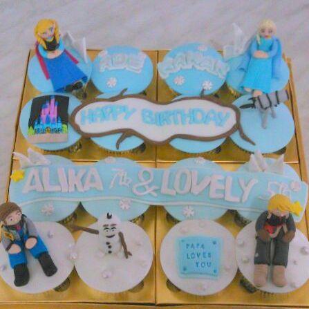 frozen bday cupcake