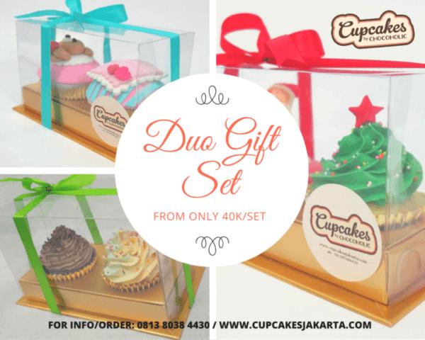 duo cupcake gift set