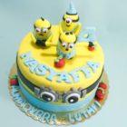 Yellow Cute Minions Birthday Cake