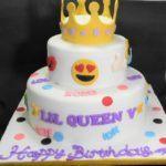 Fun Emoji Birthday Cake Tingkat