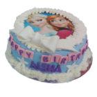 Frozen Ribbon Birthday Cake