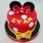 Minnie Ribbon Birthday Cake