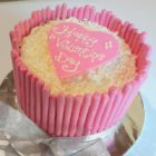 Pocky Strawberry Valentine Cake