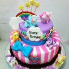 My Little Pony Birthday Cake Tingkat