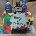 Lego Superhero Birthday Cake